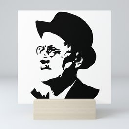 PORTRAIT OF AN IRISH WRITER NAMED JAMES Mini Art Print
