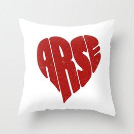 Shape of love Throw Pillow