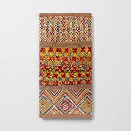 Ait Ouaouzguite Berber Antique Moroccan Saddle Rug Metal Print