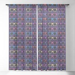 Vintage Sunglasses Sheer Curtain