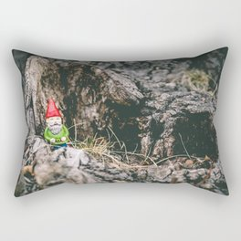 Oli the Gnome in His Summer House Rectangular Pillow