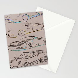 Dream Cars Stationery Cards