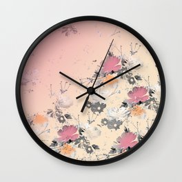 ombre floral - all Wall Clock