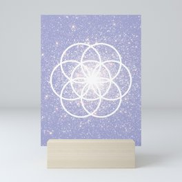 Violet Seed of Life Boho Style Sacred Geometry Mini Art Print