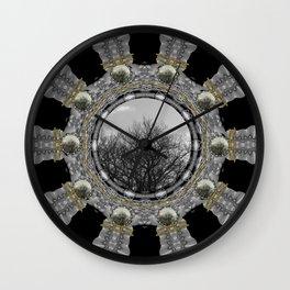 Metal power on Mother Earth Pop Art Wall Clock