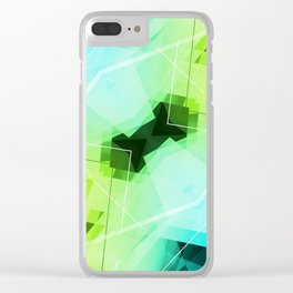 Revive - Geometric Abstract Art Clear iPhone Case