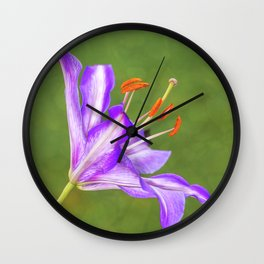Violet Lily Wall Clock