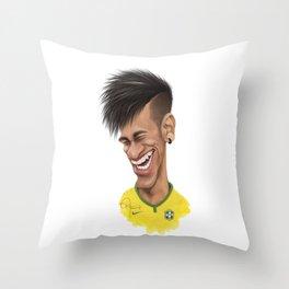 Neymar - Brazil Throw Pillow