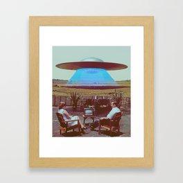 Alien Ship Framed Art Print