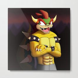 Anthro Bowser Metal Print