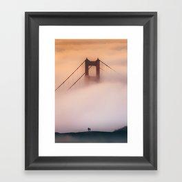 Foggy sunrise at Golden Gate Framed Art Print