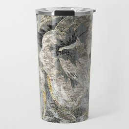 Flowers In Bronze Steele And Copper Travel Mug