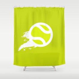 Tennis Flying Ball Shower Curtain