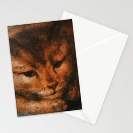 Cat in the art -Sellaer- Jupiter as a Satyr with Antiope and their Twins - detail Stationery Cards