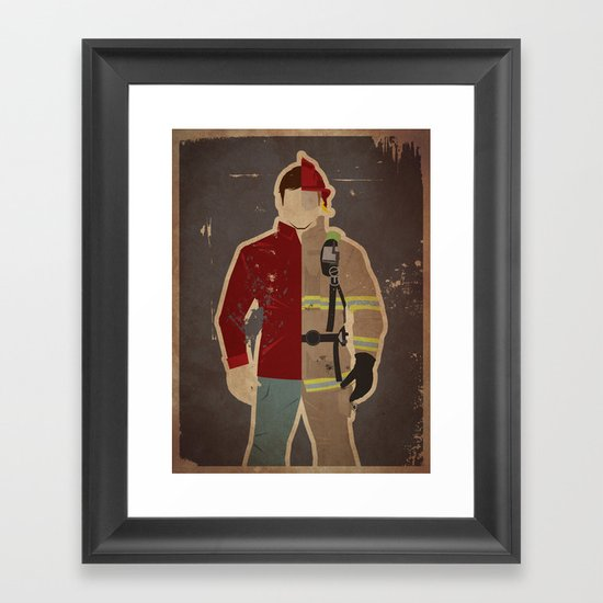 Every Day Hero: Firefighter Framed Art Print