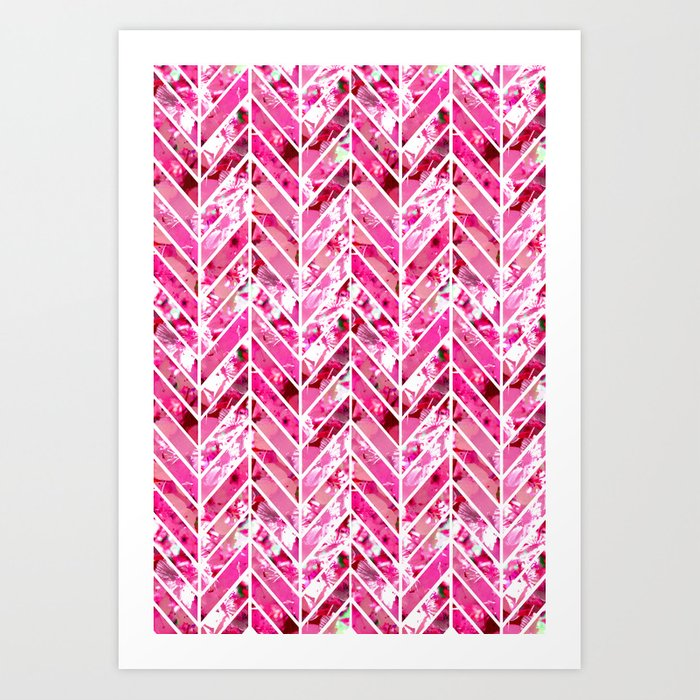 Cherry Bomb Chevron Art Print