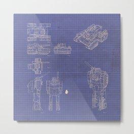 Transformer Blueprints Metal Print