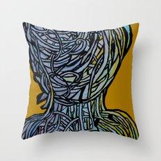 Windower Mustard Throw Pillow