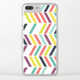 Rainbow ziggy Clear iPhone Case