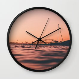 Sydney at Sunset Wall Clock