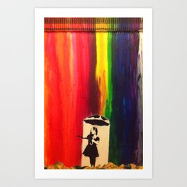 Raining colour  Art Print