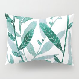 greeen water color leaves Pillow Sham