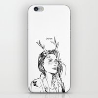 dancer iPhone & iPod Skins featuring Dancer by Cassandra Jean