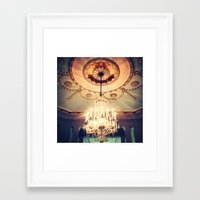 chandelier Framed Art Prints featuring Chandelier by elle moss