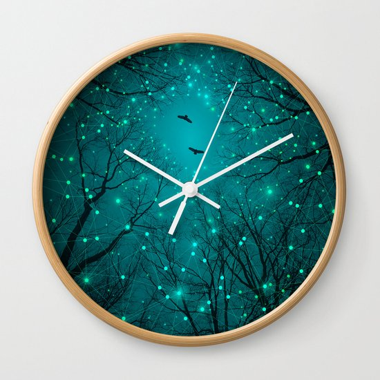One by One, the Infinite Stars Blossomed Wall Clock