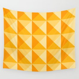 Geometric Prism in Sunshine Yellow Wall Tapestry