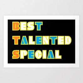 BTS BEST TALENTED SPECIAL TAETAE Art Print