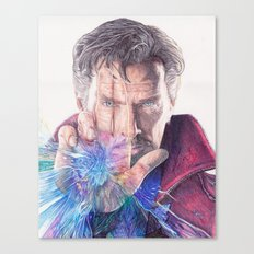 Dr Strange Pen Drawing Canvas Print