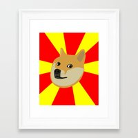 doge Framed Art Prints featuring Doge by Subtle Tee
