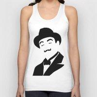 hercules Tank Tops featuring Hercules Poirot by b & c