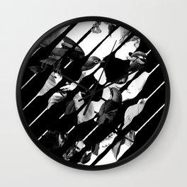 Memory Skull BW Wall Clock