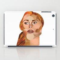 lindsay lohan iPad Cases featuring Lindsay Lohan  by Rebecca Singer Illustration