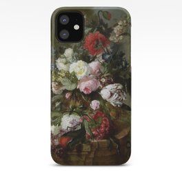 Vintage Floral Still Life Painting iPhone Case