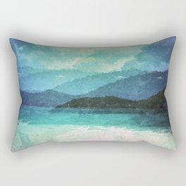 Tropical Island Multiple Exposure Rectangular Pillow