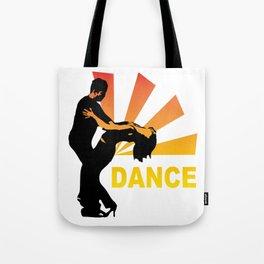 dancing couple silhouette - brazilian zouk Tote Bag