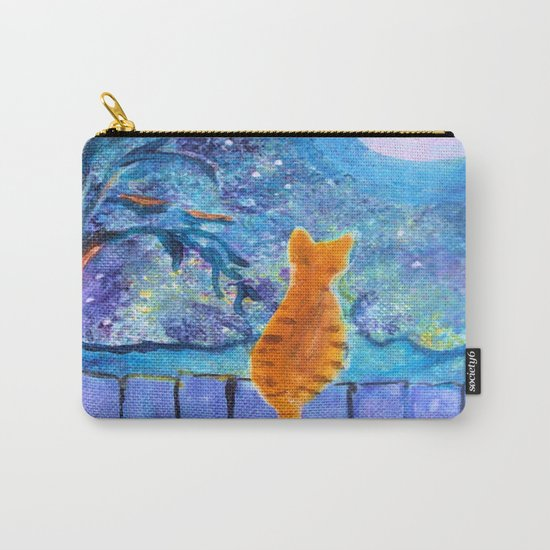 Cat in the Moonlight Carry-All Pouch