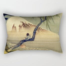 Katsushika Hokusai Boy Viewing Mount Fuji Rectangular Pillow