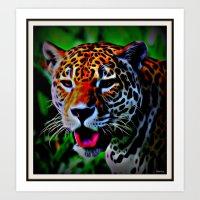 jaguar Art Prints featuring Jaguar by elkart51