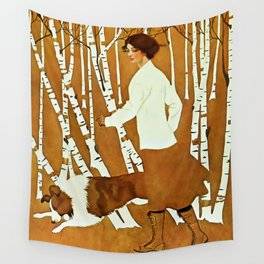 Coles Phillips 'Fadeaway Girl' A Walk in the Woods Wall Tapestry
