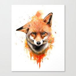 Fox - Watercolour Painting Canvas Print