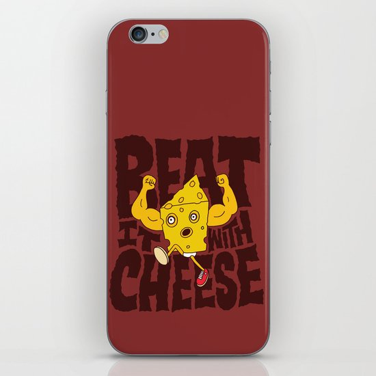 Beat it with Cheese iPhone Skin