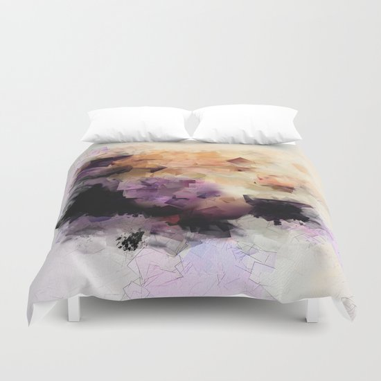 Abstract cubism pattern no. 2 Duvet Cover