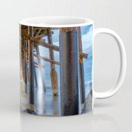 The Rocks Under Newport Pier Coffee Mug