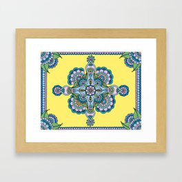 Bee Mandala Framed Art Print