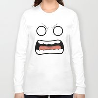 scary Long Sleeve T-shirts featuring Scary Face by Tombst0ne