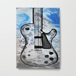 Guitar Art. Featured on back cover of The Music and Art of Black Cat Records. Metal Print